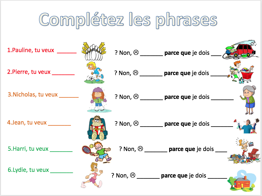 Making excuses : pouvoir , devoir - Expo 2 Module 3 - Differentiated lesson + homework task