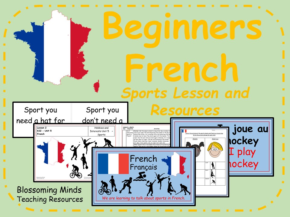 French lesson and resources - KS2 - Sports