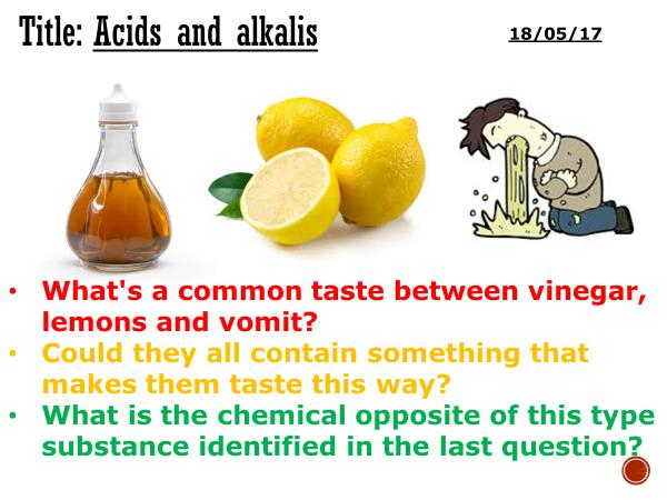 Acids and alkalis - complete lesson (KS3)