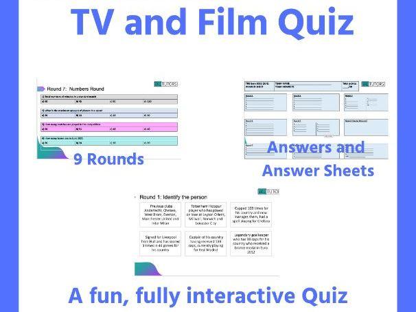 TV and Film Quiz