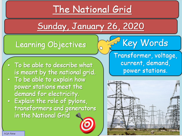 AQA P2 - Electricity - 13+ Lessons