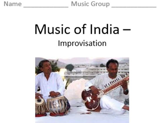 KS3 Music of India (Improvisation) - Topic Booklet