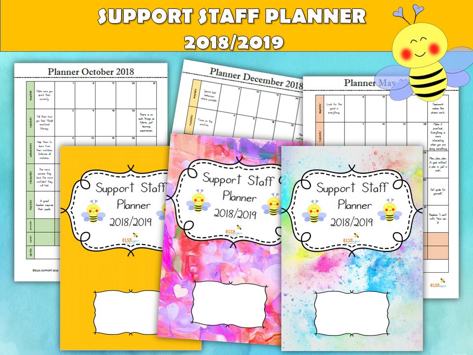 Support Staff Planner 2018/2019