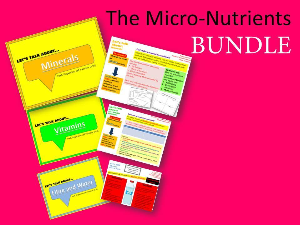 Food, Preparation and Nutrition - The Micro-Nutrients BUNDLE