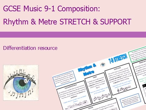 GCSE Music 9-1 Composition: Rhythm & Metre Differentiation