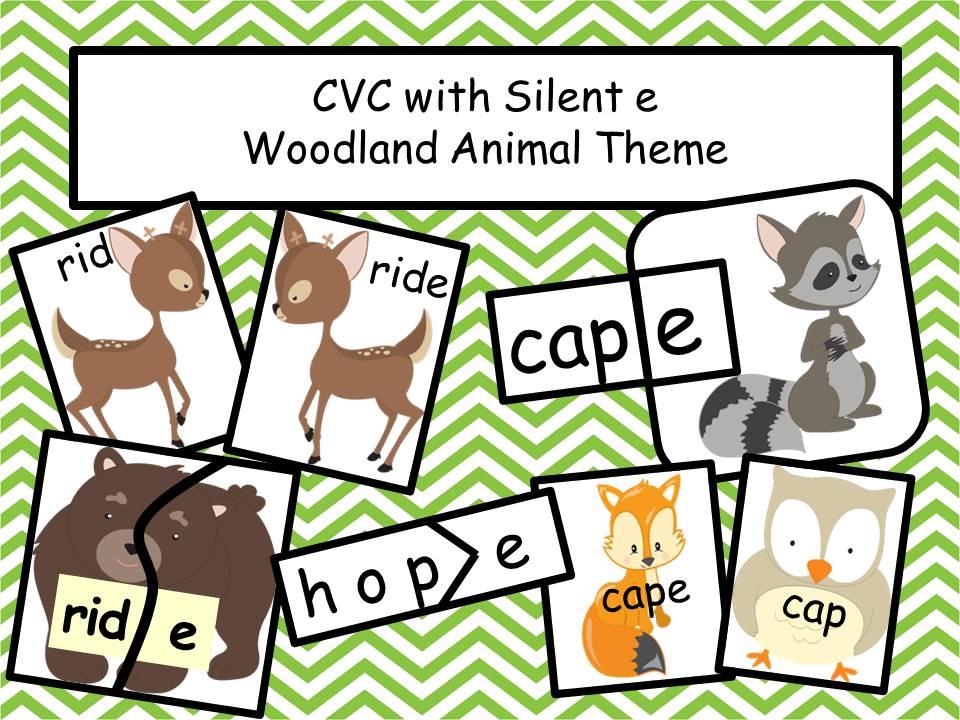 CVC with Silent E - Woodland Animal Theme