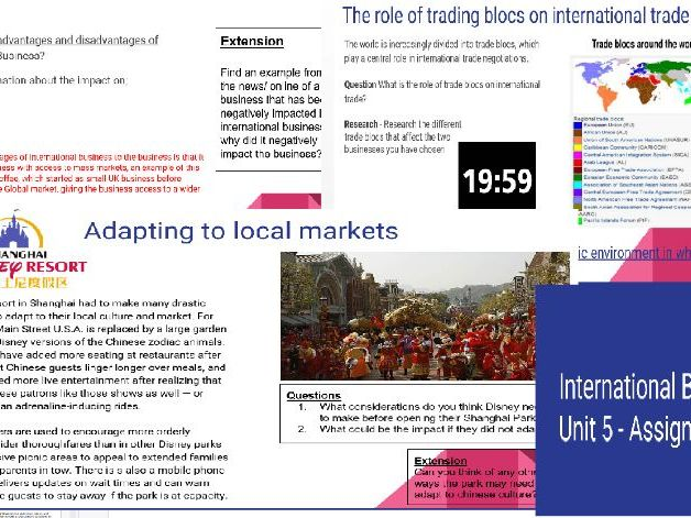 BTEC National Business Level 3 Unit 5: International Business- Assignment 1 Powerpoint