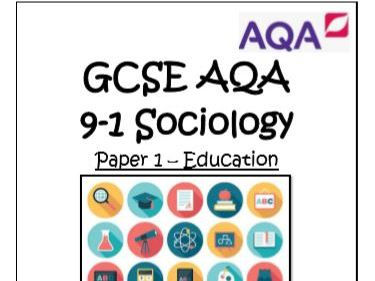 GCSE 9-1 SOCIOLOGY  34 MODEL ANSWERS PAPER 1 EDUCATION 3-4 MARK RESPONSES