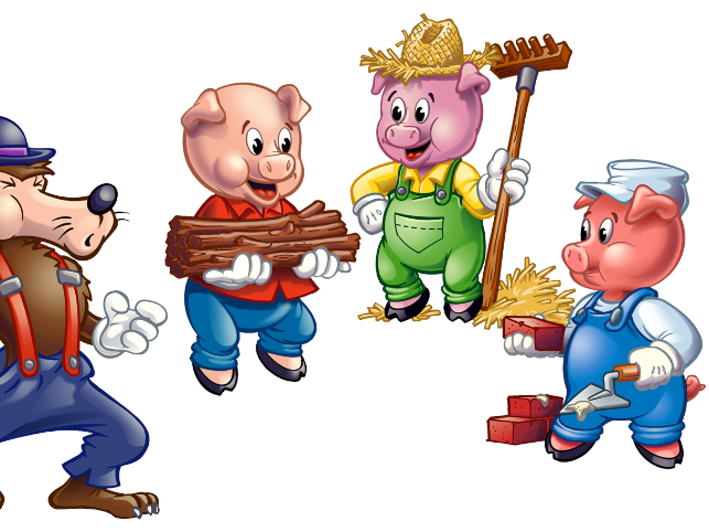 Three Little Pigs Latin case indentification activity