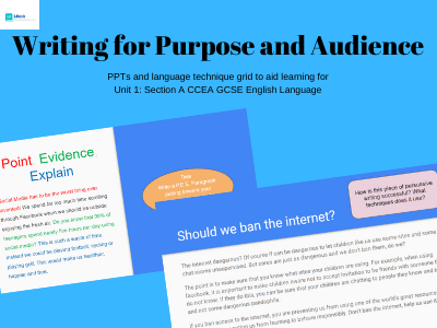 CCEA English Language: Writing for Purpose and Audience