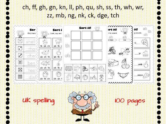 Sound Sort Worksheets Consonant Digraphs