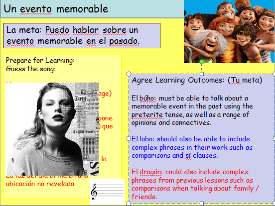 KS4 Preterite Spanish Family and Friends New AQA specification