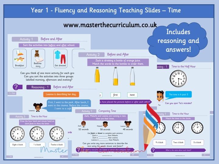 Year 1 - Editable Time Teaching Slides - White Rose Style