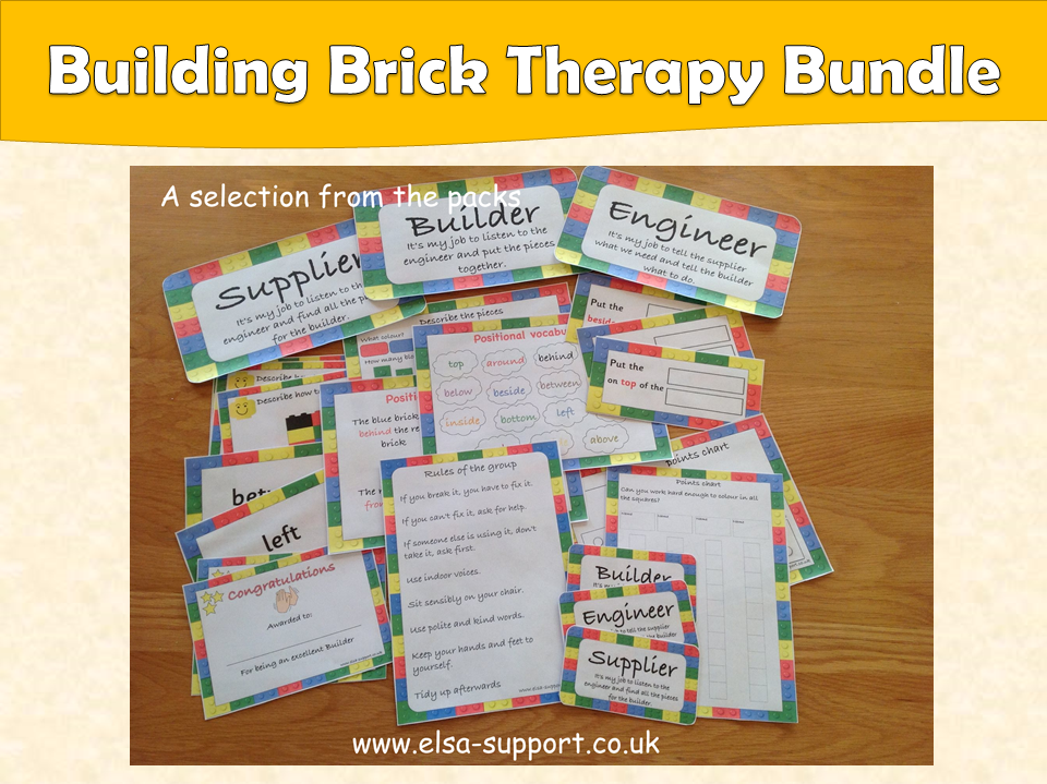 Building Brick therapy group pack