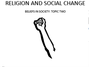 Religion & Social Change [3x Lessons] [AQA A-Level Sociology - Beliefs In Society]