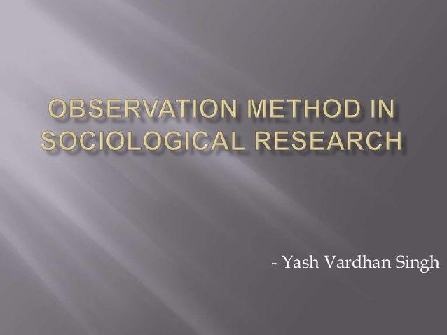 Sociological Observations Revision