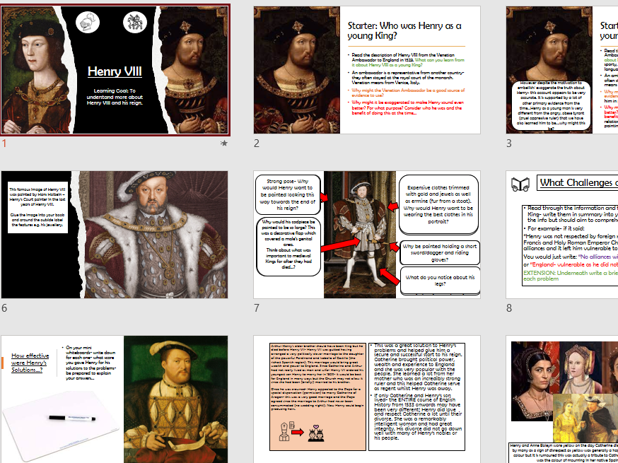 Early Tudors Henry VII and Henry VIII
