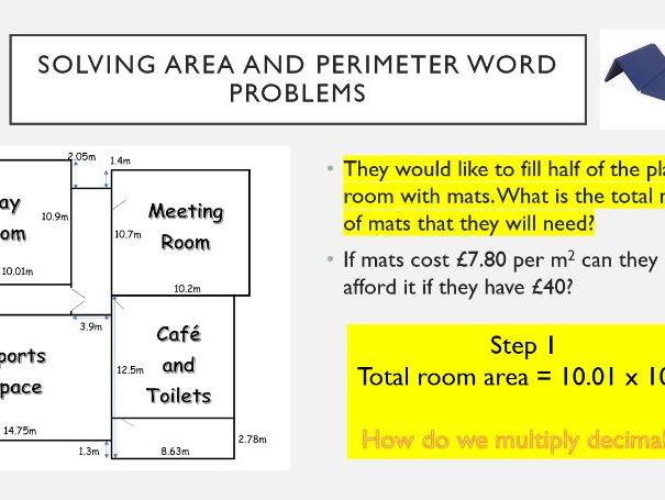 Area and perimeter worksheets ks2 tes
