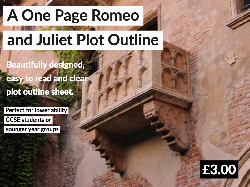 A One Page Romeo and Juliet Plot Outline