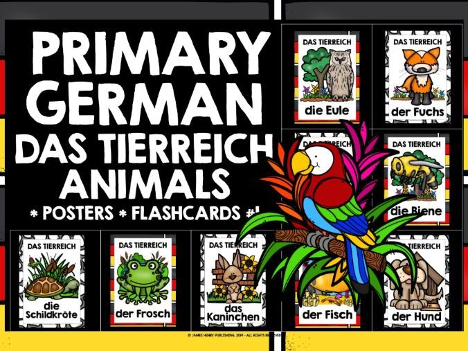 PRIMARY GERMAN ANIMALS POSTERS #1