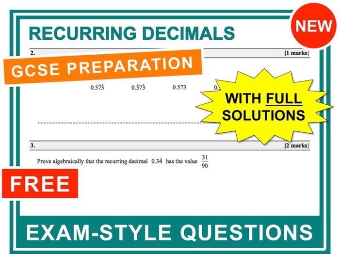 GCSE 9-1 Exam Question Practice (Recurring Decimals)