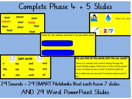 Phase 4 and 5 phonics slides