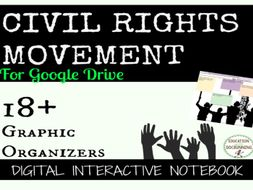 Civil Rights Movement Digital Interactive Notebook Pages