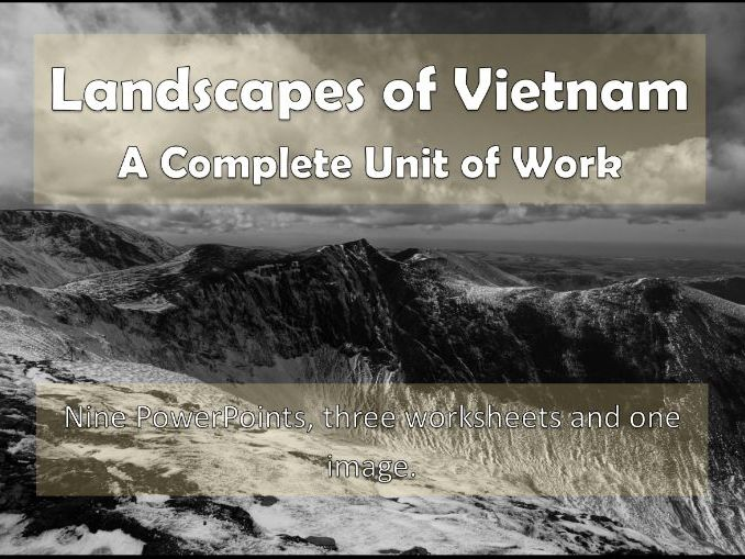 Landscapes of Vietnam: KS3 Scheme of Work