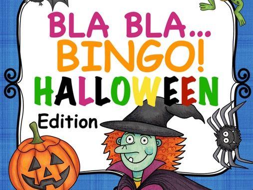 Deutsch Halloween Bingo zum Sprechen und Schreiben German game beginners