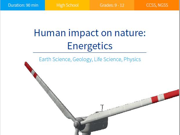 Human impact on nature: Energetics