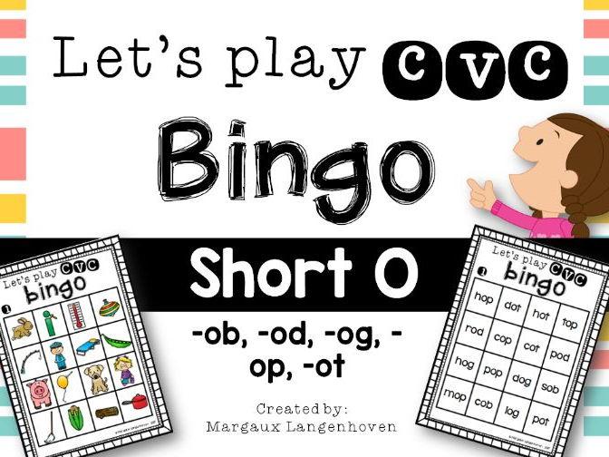 CVC Short O Bingo
