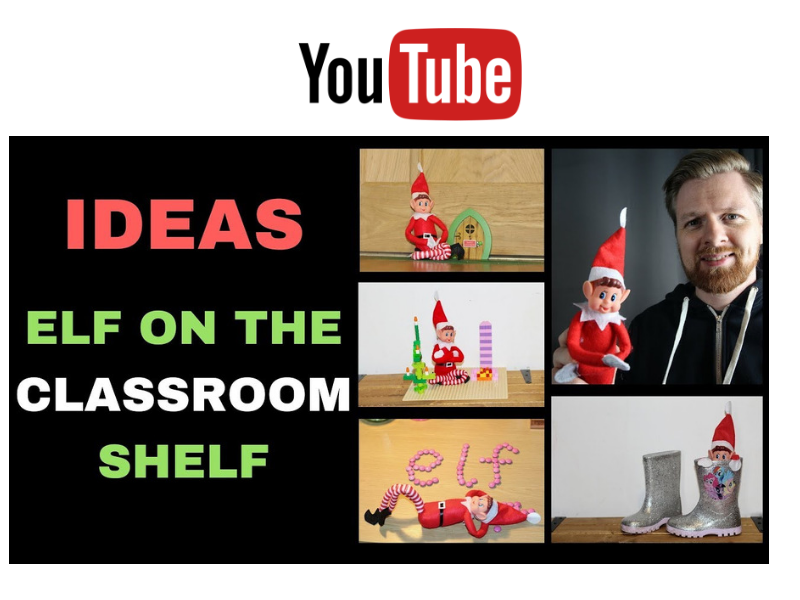 Elf on the Classroom Shelf
