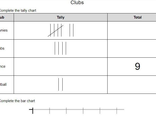 Year 2 Statistics Assessment