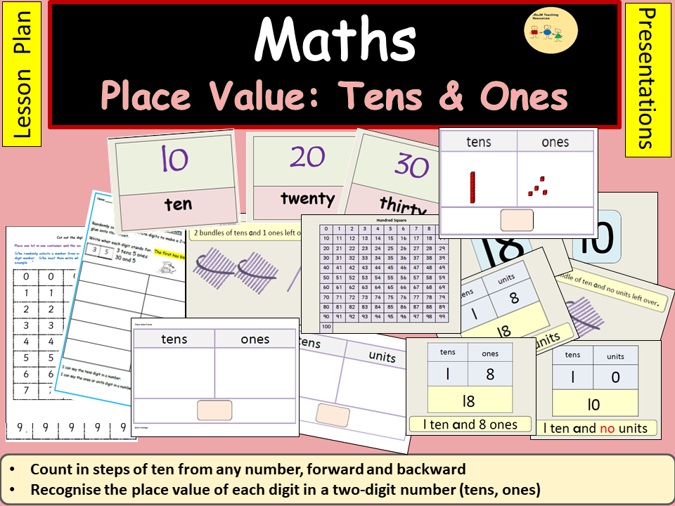 Place Value: Tens and Ones/Units, Presentations, Lesson Plan, Practical Activities - KS1