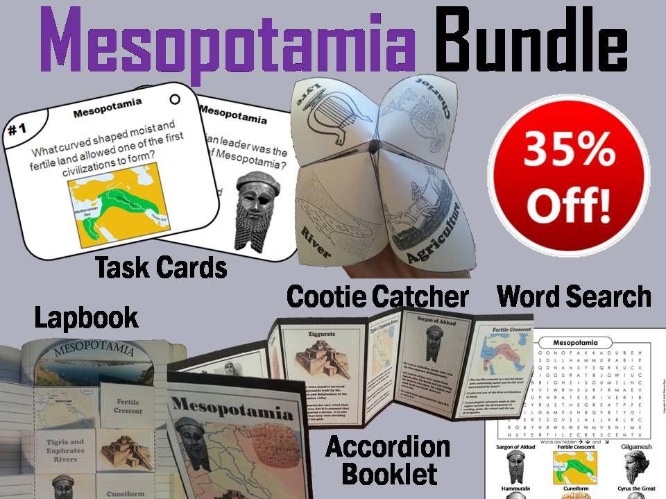 Mesopotamia Task Cards and Activities Bundle