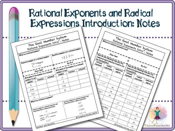 Rational Exponents and Radical Expressions Introduction: Notes