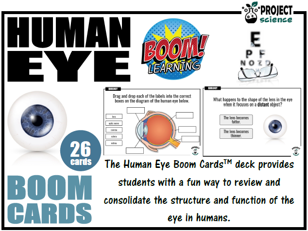 The Human Eye Boom Cards™ - Distance Learning