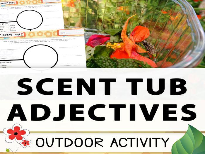 Scent Tubs - Outdoor Adjective Activity
