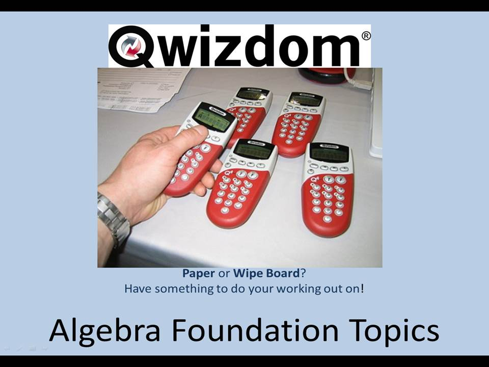 NEW 9-1 Maths GCSE Foundation Qwizdom - Algebra Topics (All graded) Revision