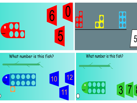 EYFS Reception/Nursery IWB  Numeracy starter and plenary. Numicon. Numbers