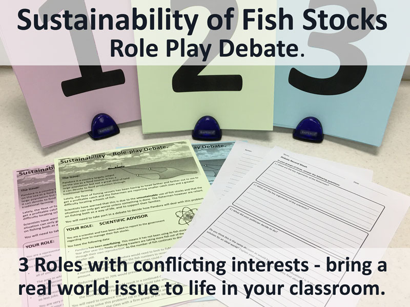 Sustainability Role-Play Debate (Overfishing, Fisheries Ecology - for GCSE or A-level)