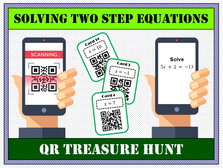 💡 Solving Two Step Equations QR Treasure Hunt 📱