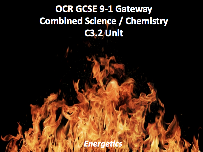 OCR GCSE 9-1 Gateway Combined Science / Chemistry C3.2 Unit