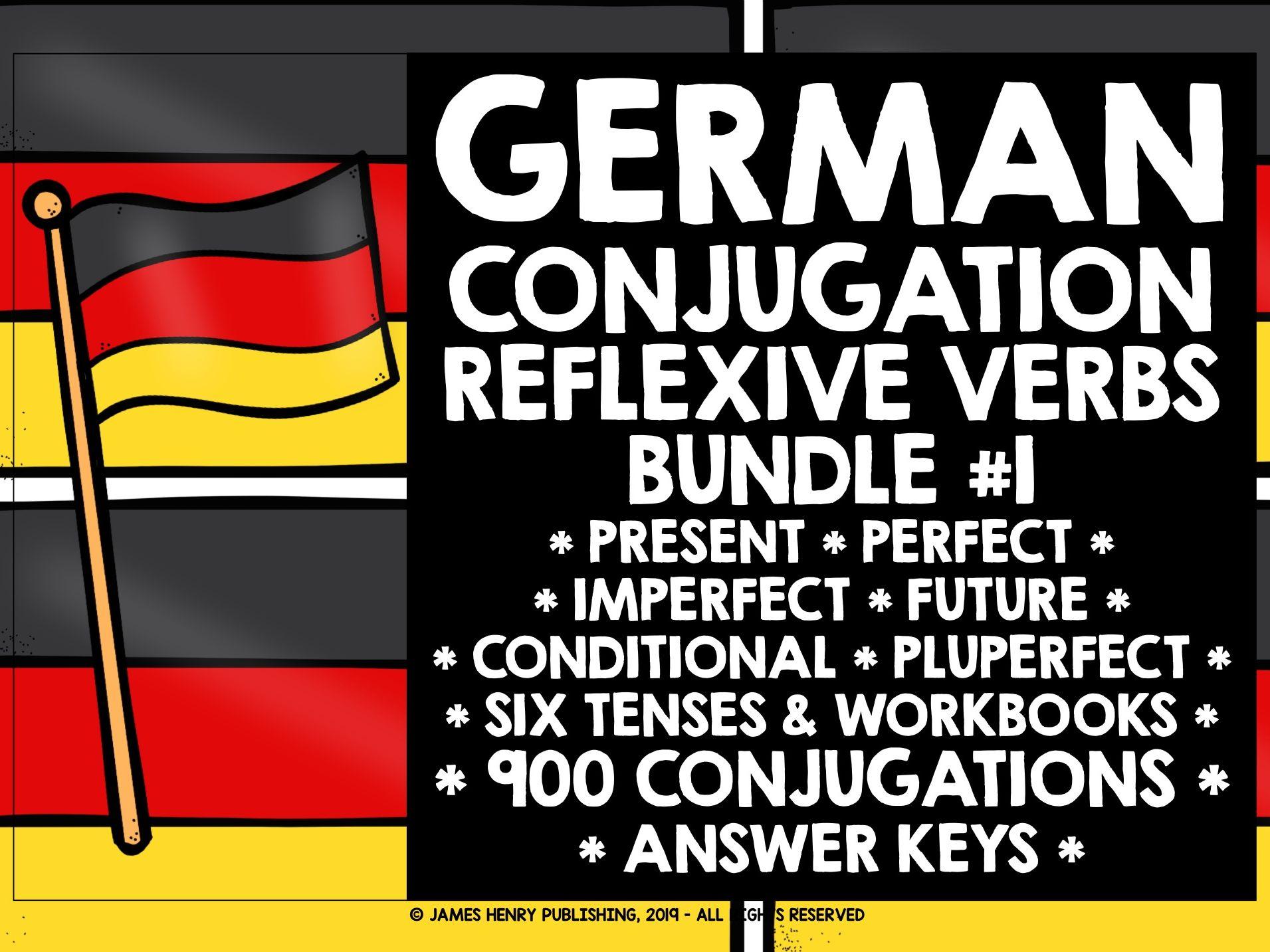 GERMAN REFLEXIVE VERBS CONJUGATION DRILLS BUNDLE #1