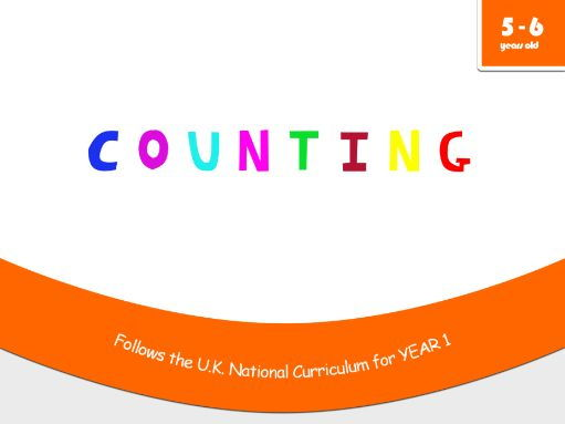 Counting - Maths workbook for 5 and 6 years old - Compatible with Year 1 objectives