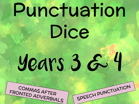 Punctuation Dice for Years 3 and 4
