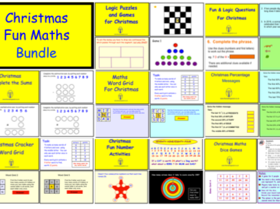 Christmas Maths Fun Bundle (SmartBoard version)