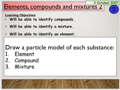 KS3 Elements, compounds and mixtures 2