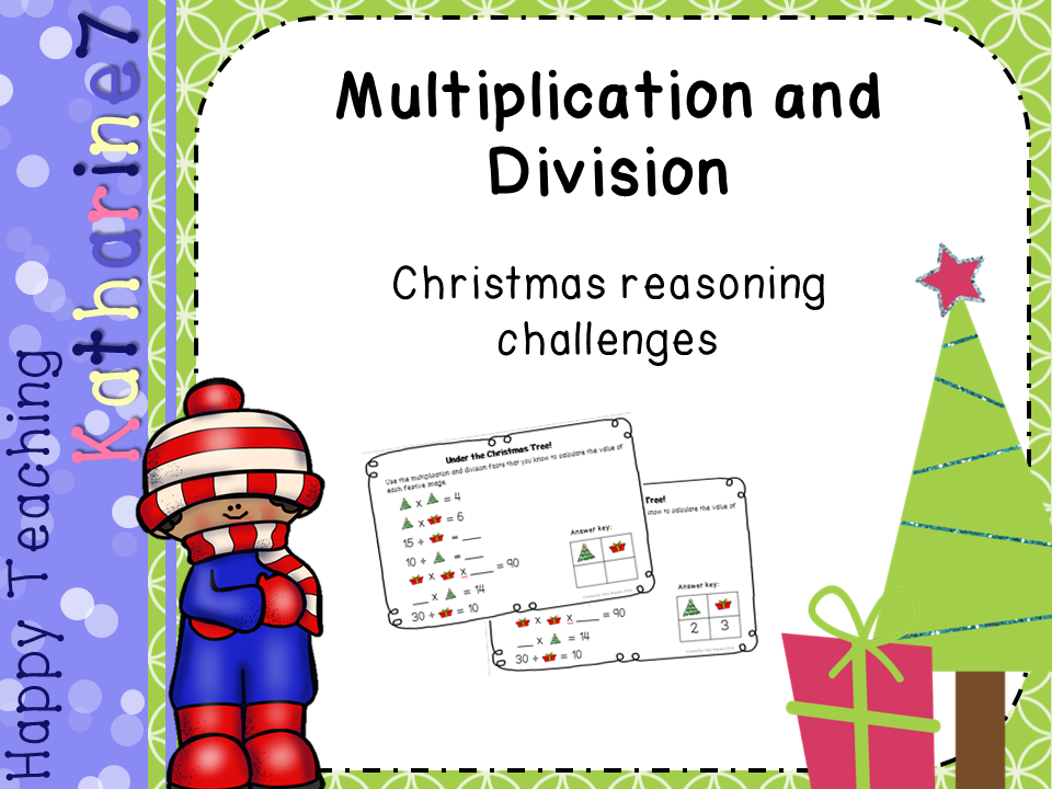 Christmas multiplication and division  - reasoning challenge cards