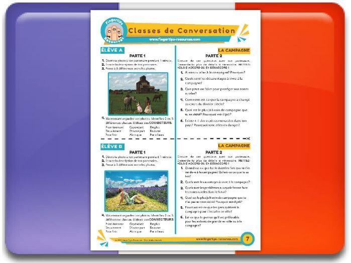 La campagne - French Conversation Activity
